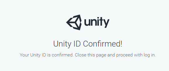 Unity ID Confirmed